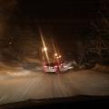 Montée vers Valloire. Route du col enneigée