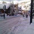 Valloire sous la neige - parking de la Brive