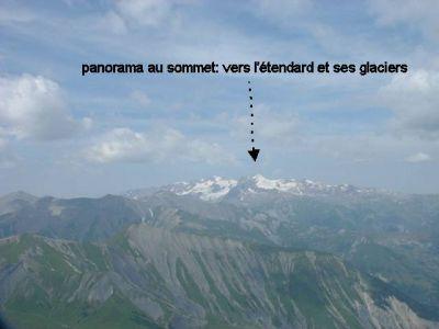 Les glaciers au loin