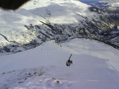 Depuis le sommet de la Setaz des prés, vue sur la marche à... suivre