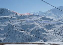 Le Dahu vu depuis Montissot (photo Valloire++, Pépito)