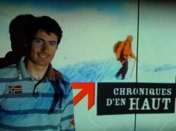 JB sur le plateau de Chroniques d'en Haut à Lyon.
