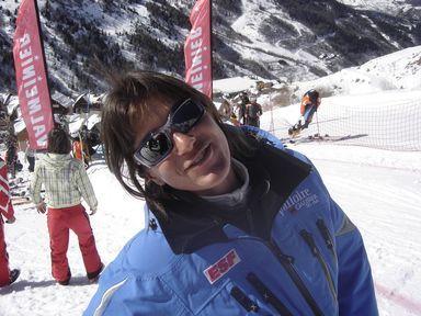Maud Giraud est aussi entraineuse au Ski Club de Valloire
