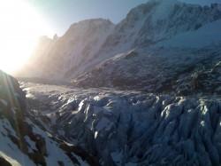 Le glacier d'Argentière à Chamonix