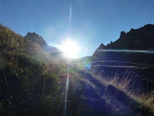 le soleil se lève sur le col des Rochilles