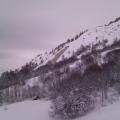 Avalanche sur les Verneys, sous un virage de Linaigrette
